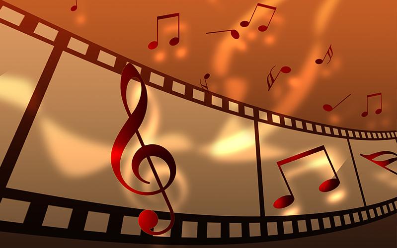 Hangen in de muziek muzieknoten